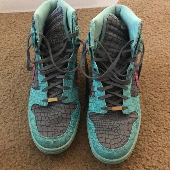 2697a27f88a4c8 Nike Shoes - Custom Nike Wedge Sneakers - sz 10.5